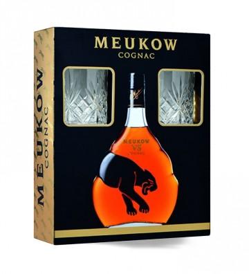 MEUKOW VS + 2 VERRES - 70cl...